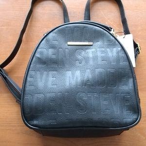 Steve Madden Black Logo Backpack NWT